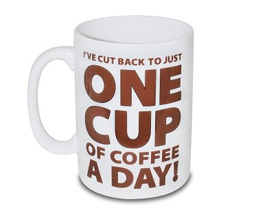 One Cup of Coffee Large Mug cup