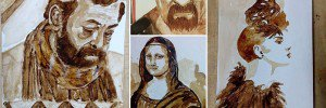 Paintings Created With Coffee