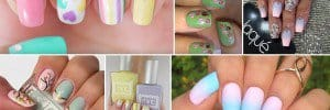 Pastel-Colored Nail Design