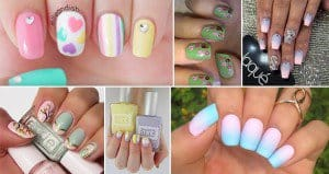 Pastel-Colored Nail Design
