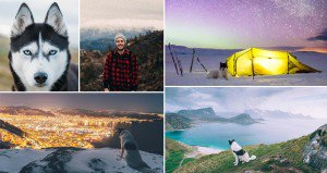 Of The Most Epic Glow In The Dark Tattoos - Guy quits his job to go on epic adventures with his husky
