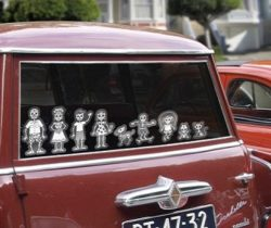 Skeleton Family Car Decals