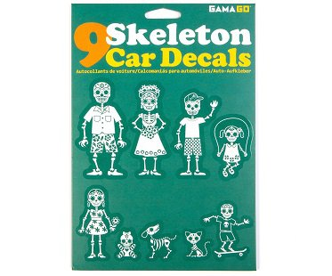Skeleton Family Car Decals pack