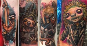 Tattoos Sloths Iconic Movie Characters