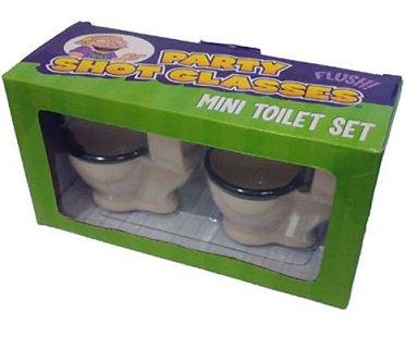 Toilet Shot Glasses box