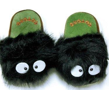 Totoro Soot Sprite Slippers dust bunny