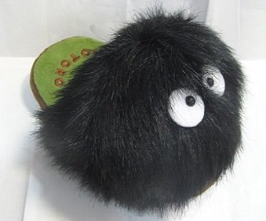 Totoro Soot Sprite Slippers feet