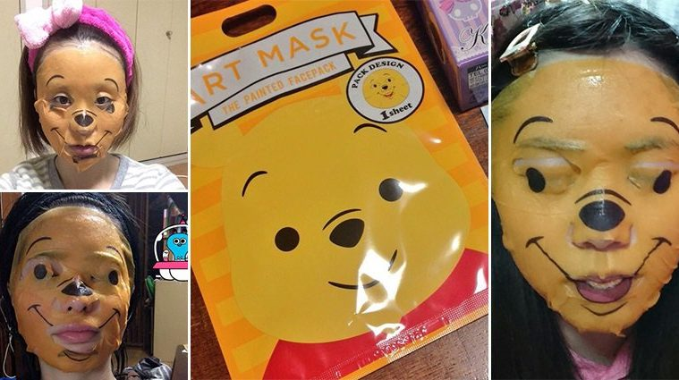 Winnie-The-Pooh Face Mask Petrifying