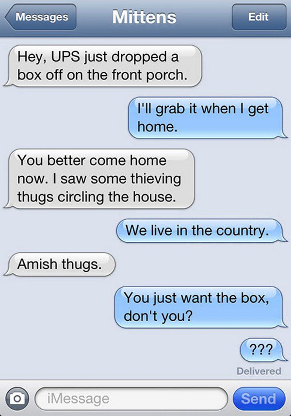 amish thug text