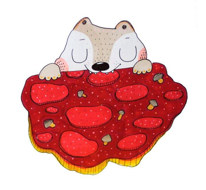 animal pizza