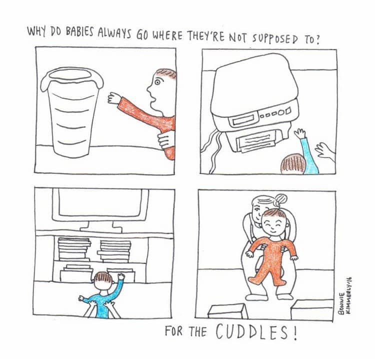 baby cuddles