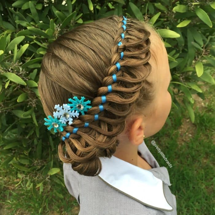 blue snowflake braid