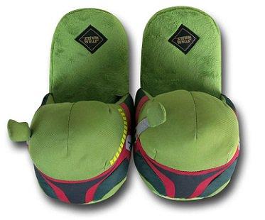 boba fett slippers green