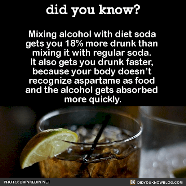 mixing alcohol with diet soda incredible facts