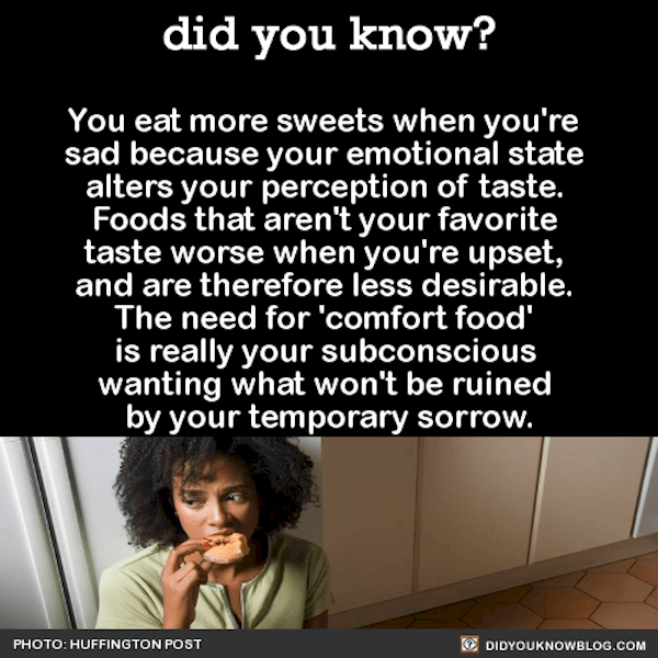 you eat more sweets when you're sad