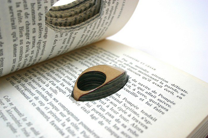 book ring pages