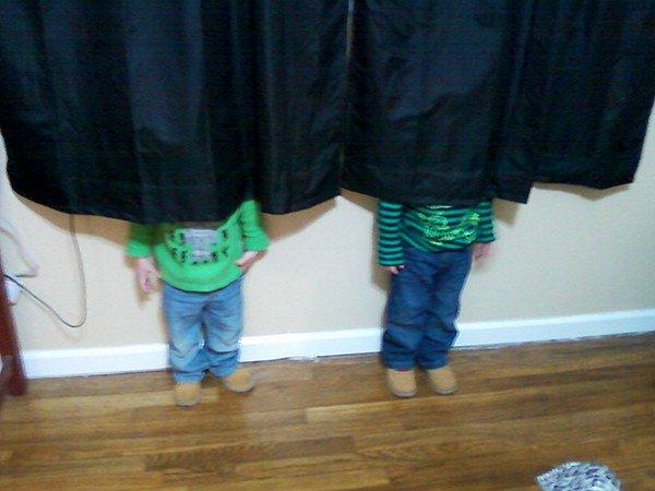 boys hiding