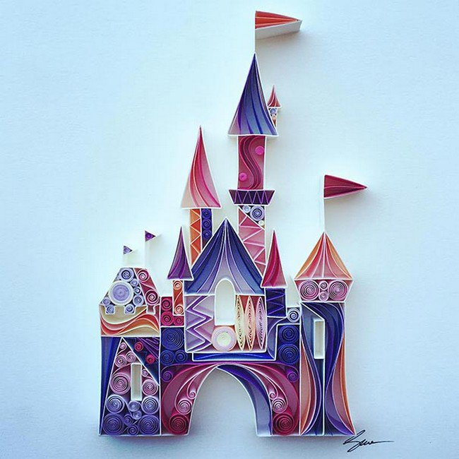 castle quilled paper