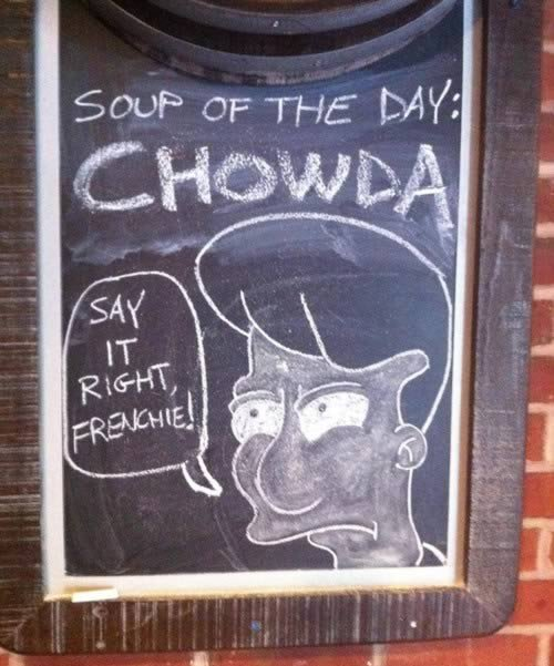 chowda sign