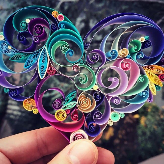 fancy quilled paper