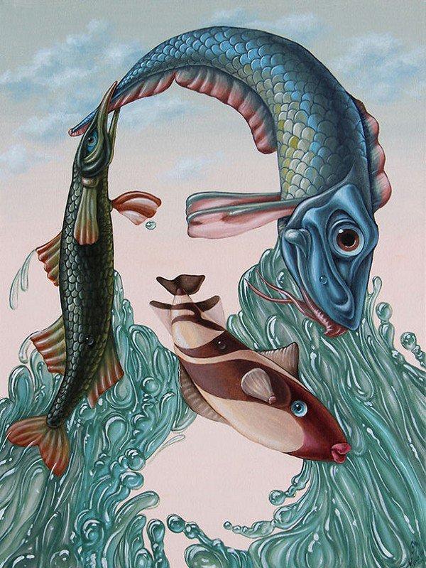 fish mona lisa