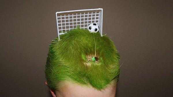 football hair