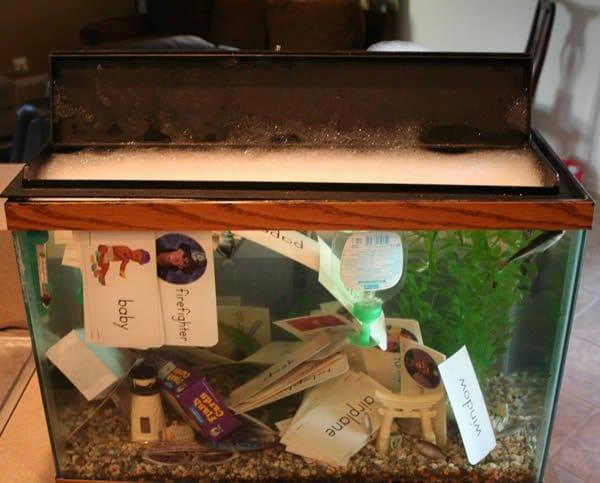 garbage fishtank