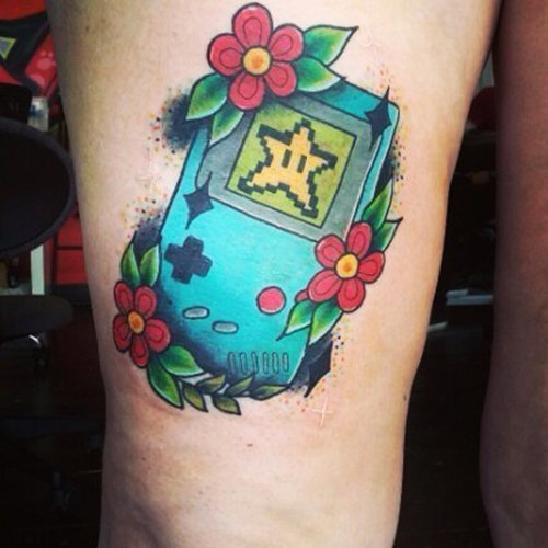 geeky-tattoos-game-boy