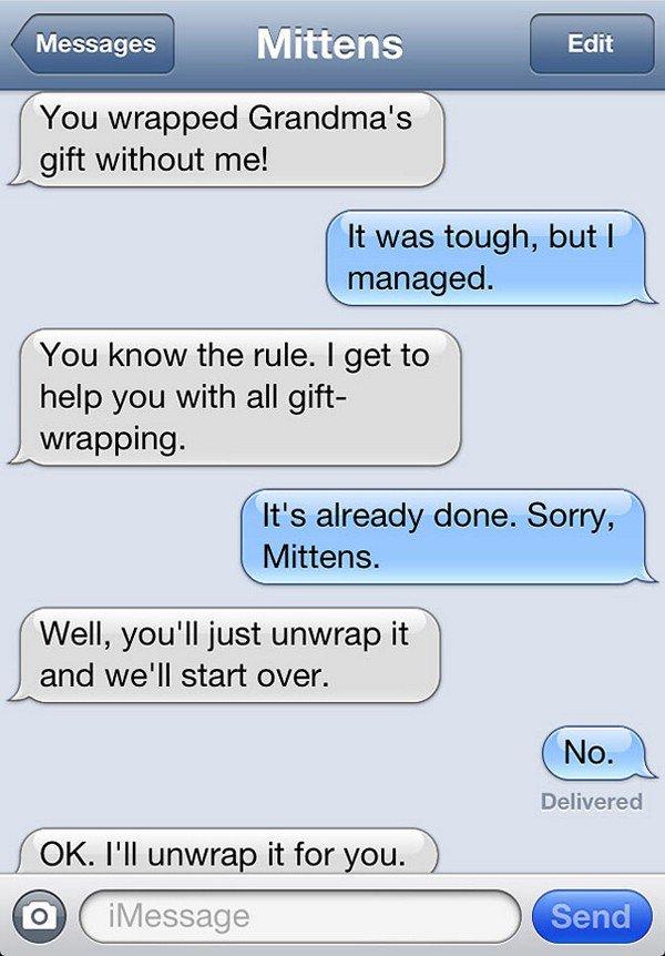 gift wrap text
