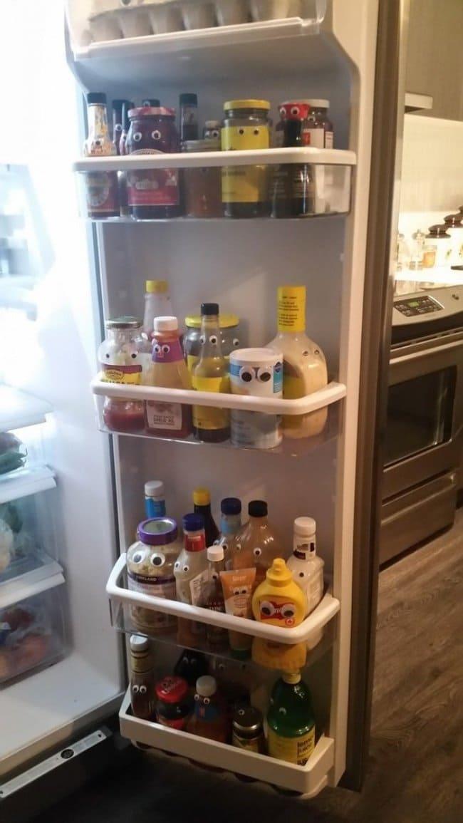 googly eyes fridge
