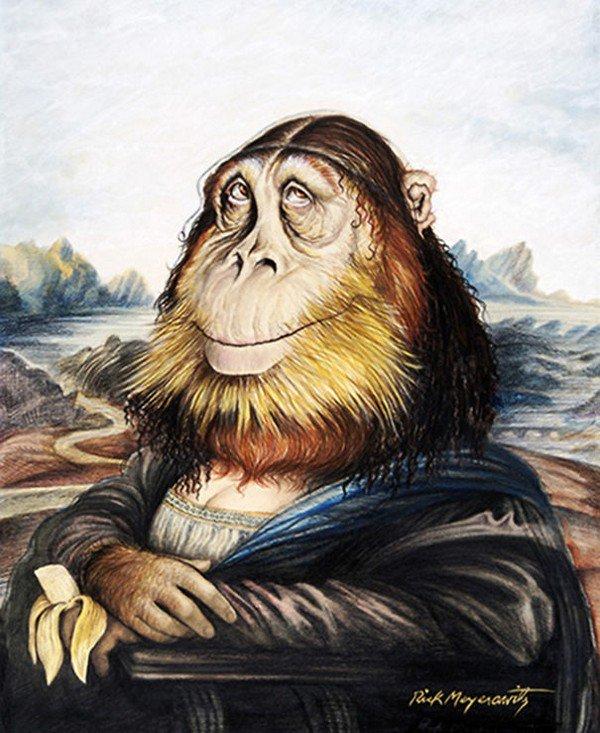 gorilla mona lisa