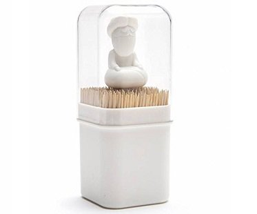 guru toothpick holder white