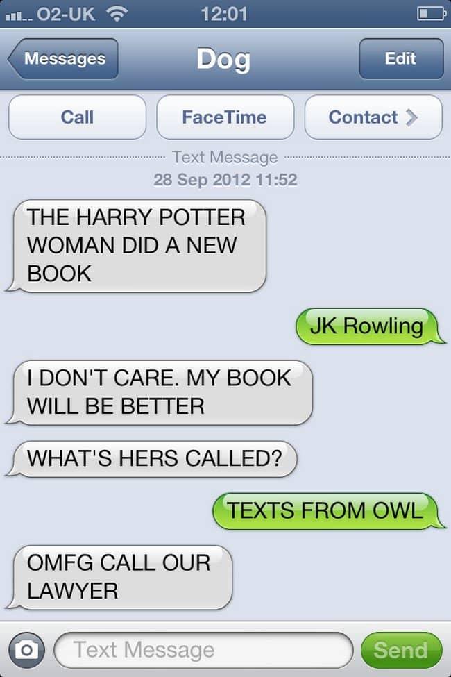 harry potter text