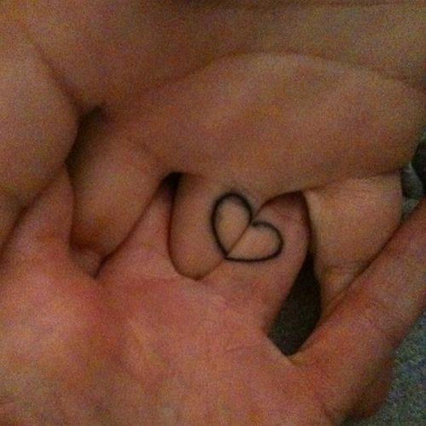 heart tattoo rings