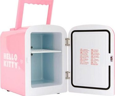 hello kitty mini fridge inside
