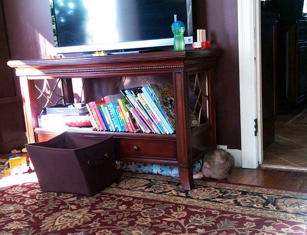hide furniture