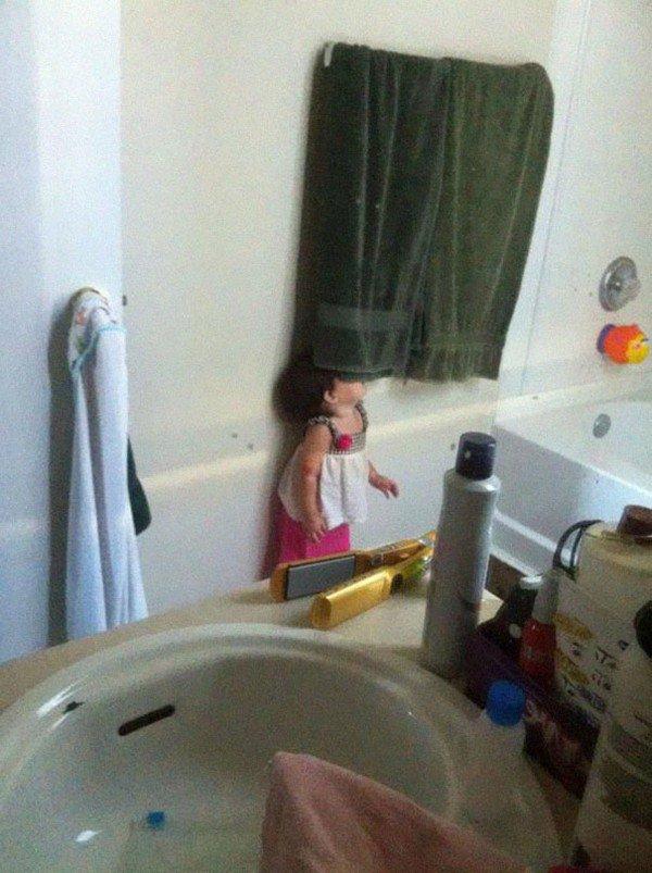 hiding towel