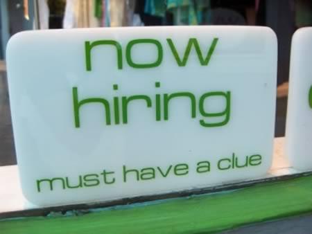 hiring clue ad