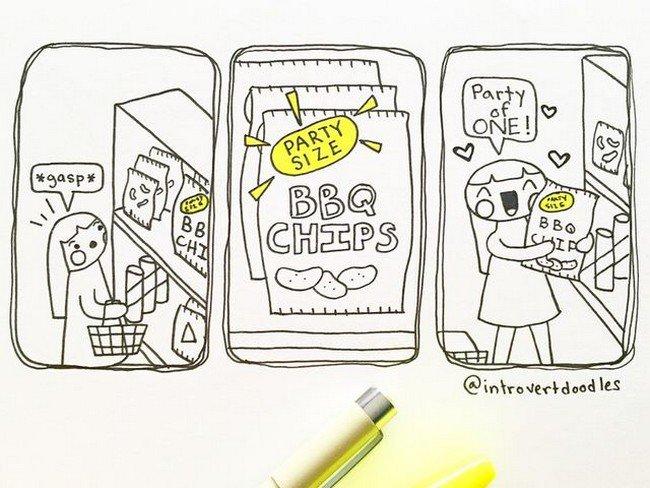 introvert bbq chips