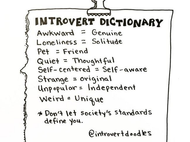 introvert dictionary