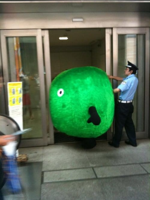 japanese-mascots-stuck-sliding-doors