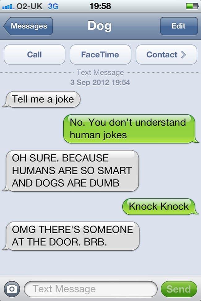 knock text