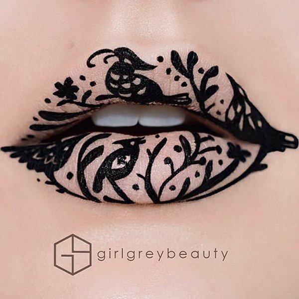 lip-art-bnw