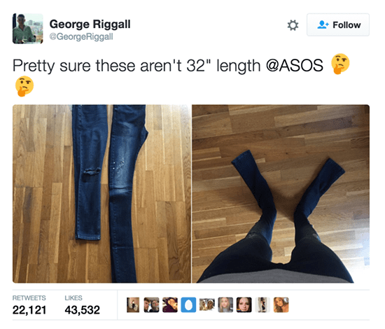 long asos trousers