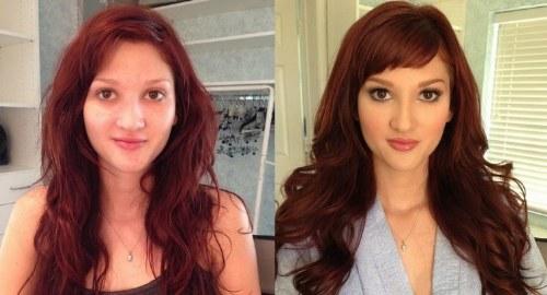makeup-before-after-bangs