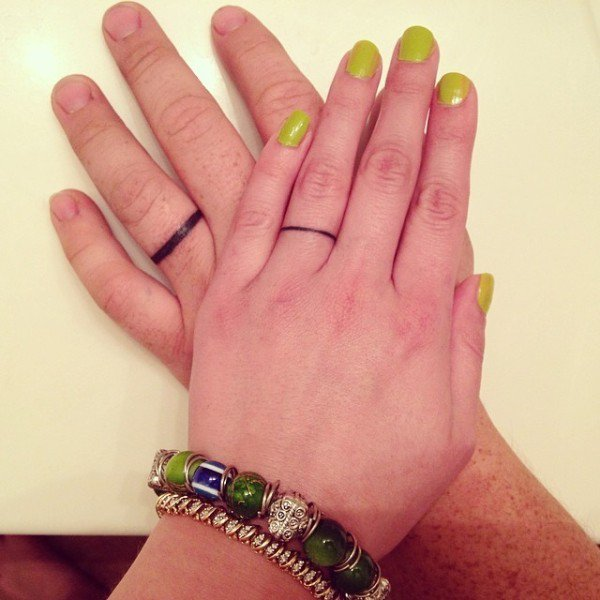 male female tattoo rings
