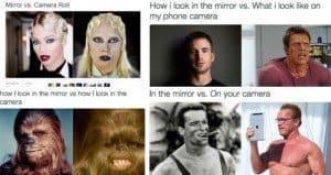 mirror versus camera