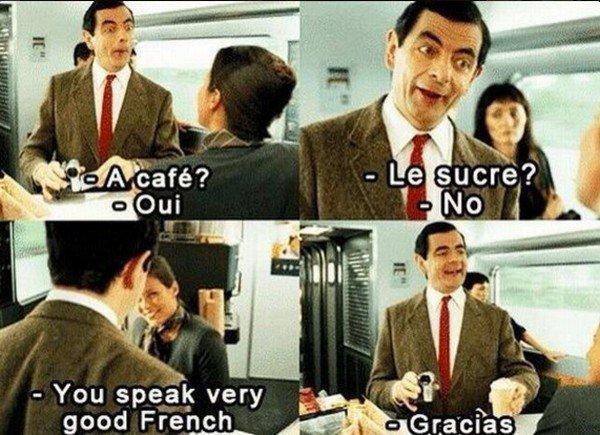 mr bean language