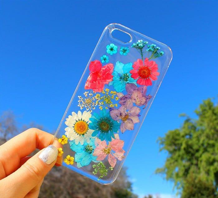 multi flower phone case