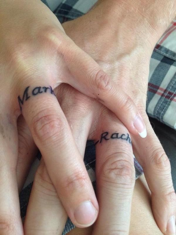 name tattoo rings